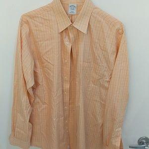 Brooks Brothers slim fit 16.5/34-35 orange shirt